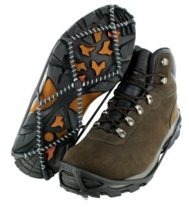 Turning my 2WD feet into AWD feet. Photo: Yaktrax/Amazon.