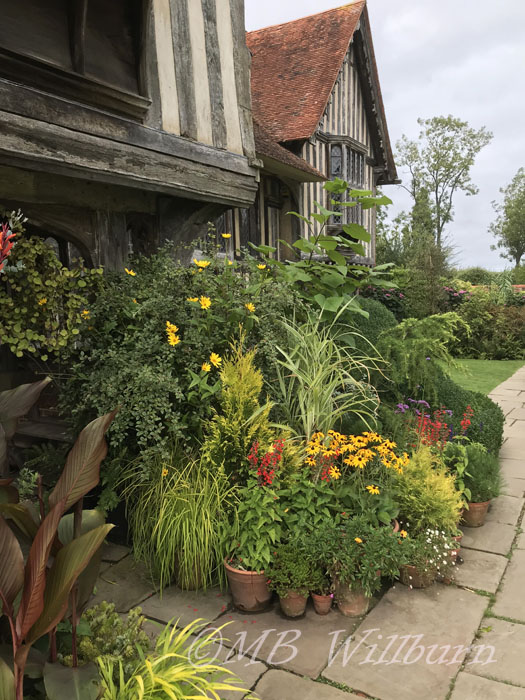 great dixter, container garden