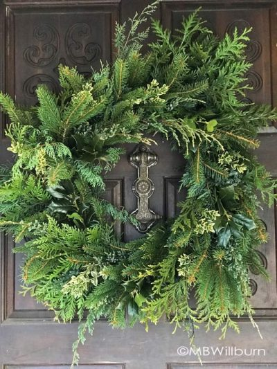christmas wreath, natural wreath, holiday wreath