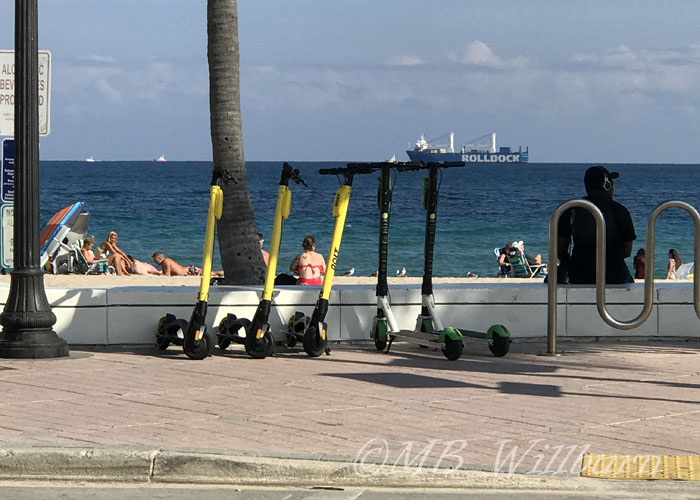electric beach scooters
