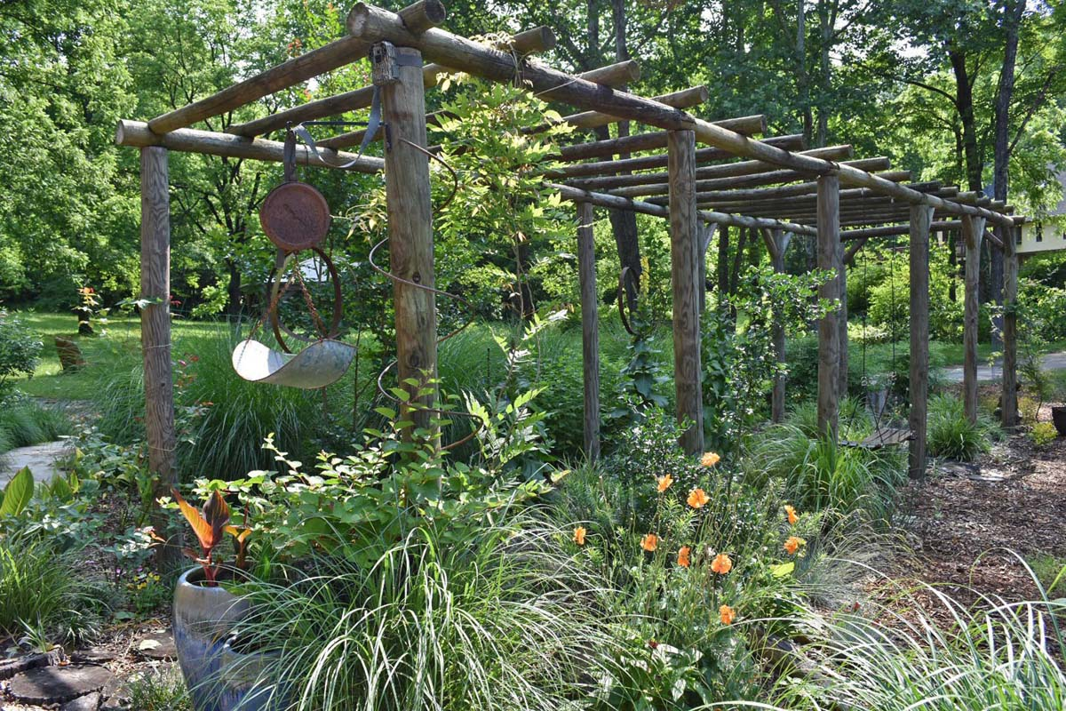 Pergola garden at Oldmeadow