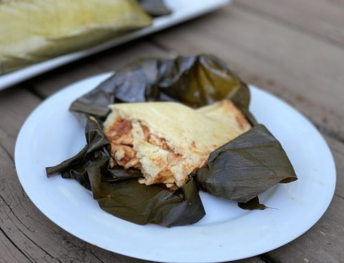 Banana-Wrapped Chicken Chipotle Tamales