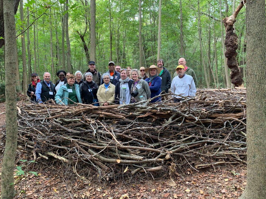 Garden Comm members in nest at Delaware Botanic Garden